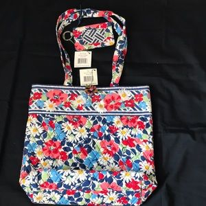 New with tags Vera Bradley tote and zip ID case